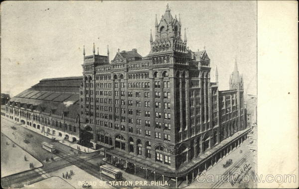 Broad Street Station, P.R.R. Philadelphia Pennsylvania