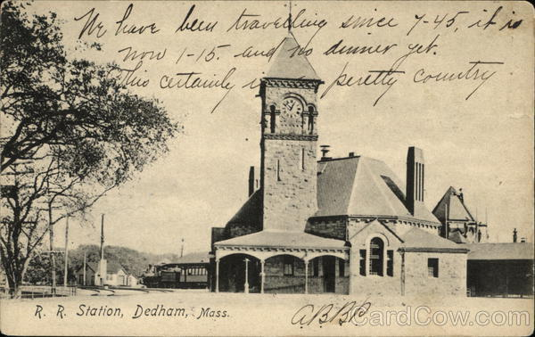 R. R. Station Dedham Massachusetts