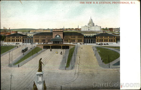 The New R.R. Station Providence Rhode Island