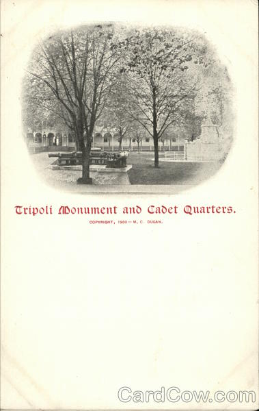 Tripoli Monument and Cadet Headquarters Annapolis Maryland