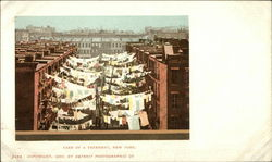 Yard of Tenements with Laundry Hanging