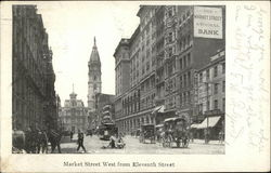 Market Street West from Eleventh Street