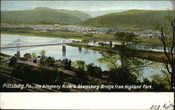 The Allegheny River and Sharpsburg Bridge