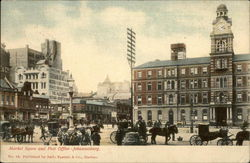Market Square and Post Office Postcard