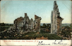 Ruins Fort Ticonderoga Postcard