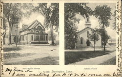 First Baptist and Catholic Churches