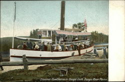 Steamer Hawthorne in Songo Lock, Songo River, Maine