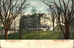 Stafford Springs House Postcard