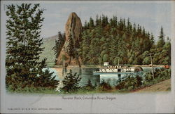 Rooster Rock, Columbia River Postcard