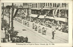 Walsenburg Elks on Parade, July 19, 1906