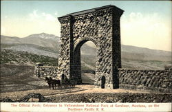 The Official Arch; Entrance to Yellowstone National Park
