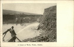 A Giant At Work Postcard