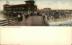 Beach and Boardwalk Postcard