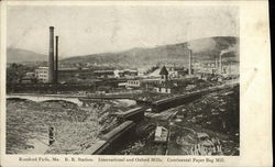 R.R. Station, International and Oxford Mills, Continental Paper Bag Mill