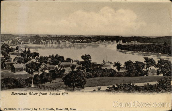 Merrimac River From Swests Hill Massachusetts