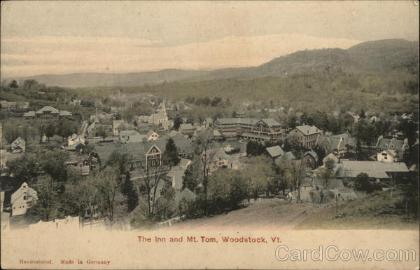 The Inn and Mt Tom Woodstock Vermont