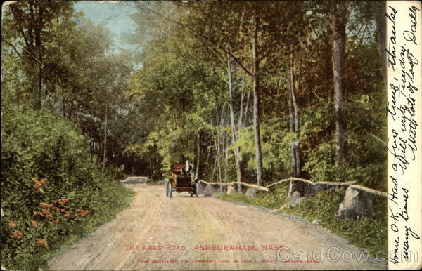 The Lake Road Ashburnham Massachusetts