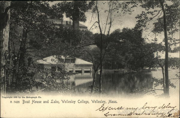 Wellesley College - Boat House and Lake Massachusetts