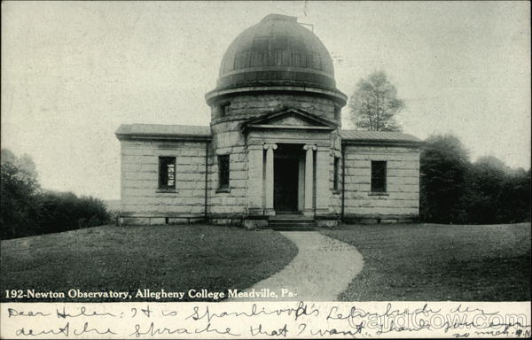 Allegheny College - Newton Observatory Meadville Pennsylvania