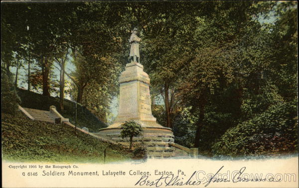 Lafayette College - Soldiers Monument Easton Pennsylvania