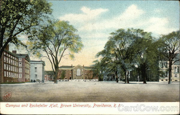 Campus and Rockefeller Hall, Brown University Providence Rhode Island