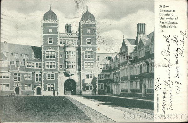 Entrance to Dormitory, University of Pennsylvania Philadelphia