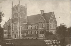 Bowdoin College - Hubbard Hall from Art Building Postcard