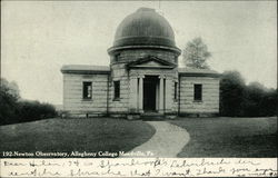 Allegheny College - Newton Observatory