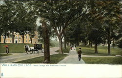 Williams College - West College and President's House Postcard