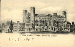 Library at Bryn Mawr College Postcard