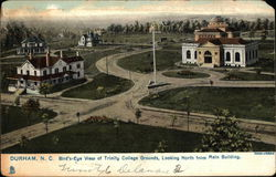 Bird's Eye View of Trinity College Grounds, Looking North from Main Building Postcard