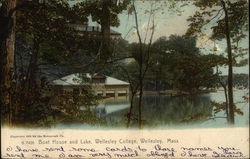 Boat House and Lake, Wellesley College