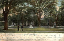 Yale University, Old Library and Statue of President Woolsey Postcard