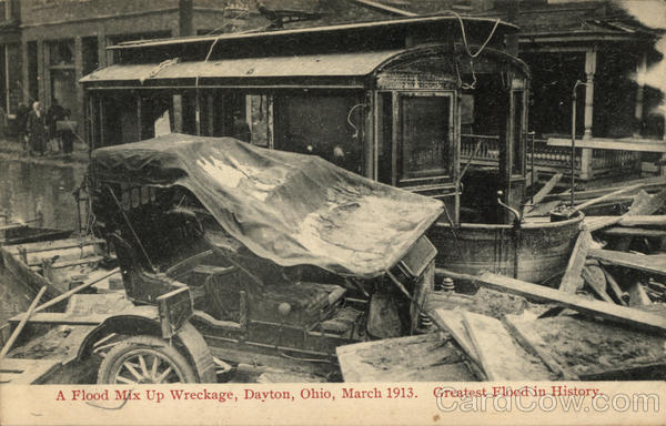 A Flood Mix Up Wreckage, March 1913, Greatest Flood In History Dayton Ohio