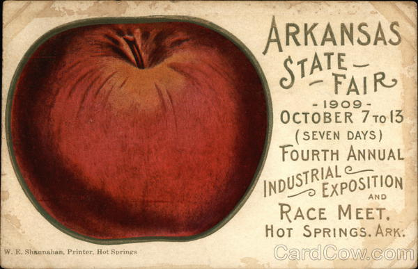 Arkansas State Fair, 1909 Hot Springs Exposition