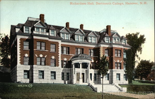 Richardson Hall at Dartmouth College Hanover New Hampshire