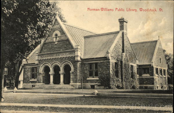 Norman-Williams Public Library Woodstock Vermont