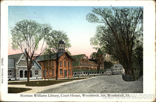 Norman Williams Library, Court House, Woodstock Inn Vermont