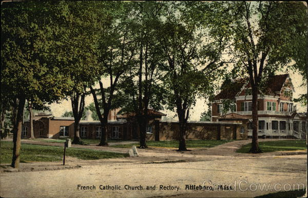 French Catholic Church and Rectory Attleboro Massachusetts