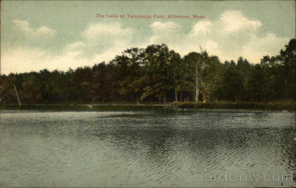 The Lake at Talaquega Park Attleboro Massachusetts