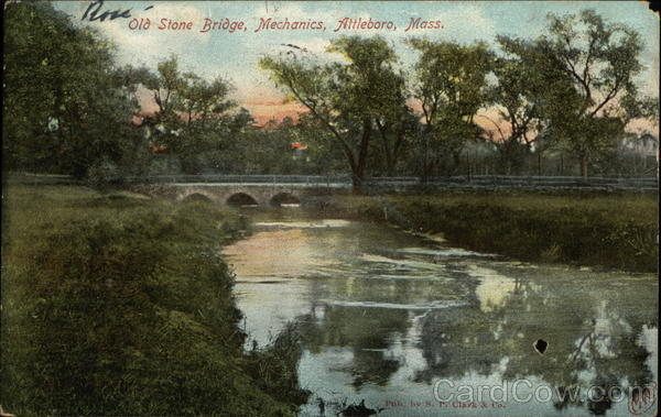 Old Stone Bridge, Mechanics Attleboro Massachusetts