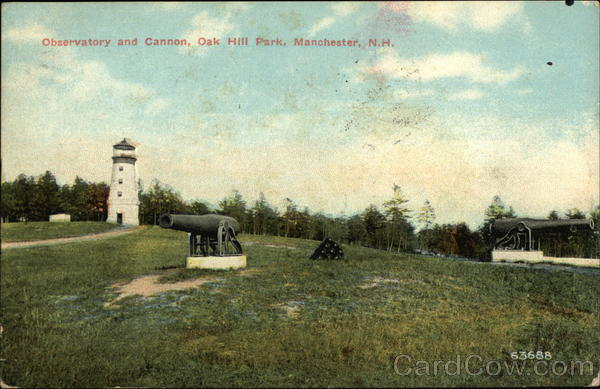 Observatory and Cannon, Oak Hill Park Manchester New Hampshire