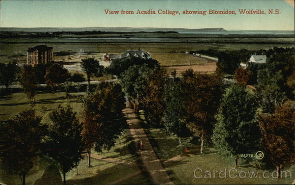 View from Acadia College showing Blomidon Wolfville Canada