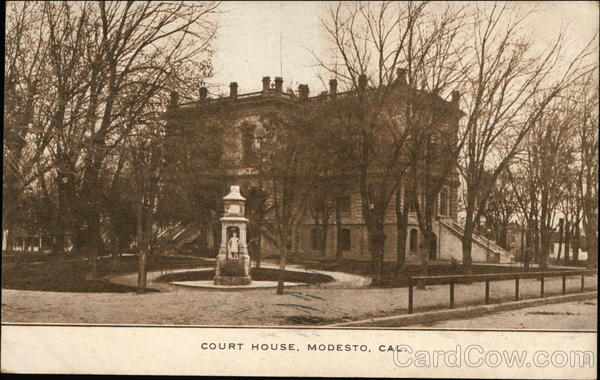 Court house modesto ca postcard House modesto