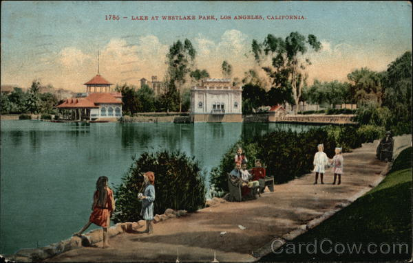 Lake at Westlake Park Los Angeles California