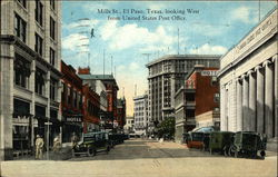 Mills Street Looking West from United States Post Office