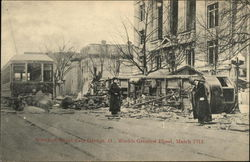 Wrecked Street Cars, Dayton, O., World's Greatest Flood, March 1913