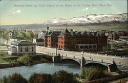 Riverside Hotel and Public Library Near the Truckee River