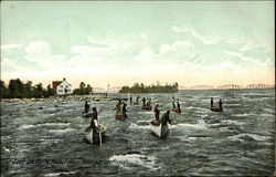 Indians Fishing in Soo Rapids