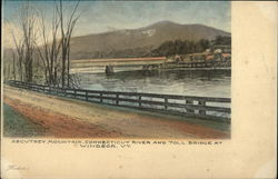 Ascutney Mountain, Connecticut River and Toll Bridge